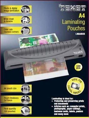 A4 Laminating Pouches Laminator Sheets Office Business Cards Paper, 100 Pack