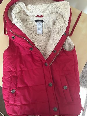 KIDS Unisex FRED BARE Red Winter Vest SIZE 7 in excellent condition