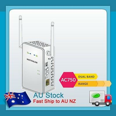 AU Netgear EX6100 AC750 750Mbps Dual Band Wireless Range Extender WiFi Booster