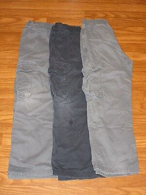 The Children's Place-Boys Size 10 Husky-Lot of 3 Cargo Pull On Pants Gray Navy