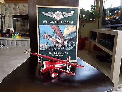 1931 Stearman Biplane - Texaco Collector Series; Die Cast Bank W/certificate