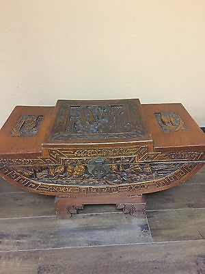 Antique Hand Made And Hand Carved Chinese Hope Chest