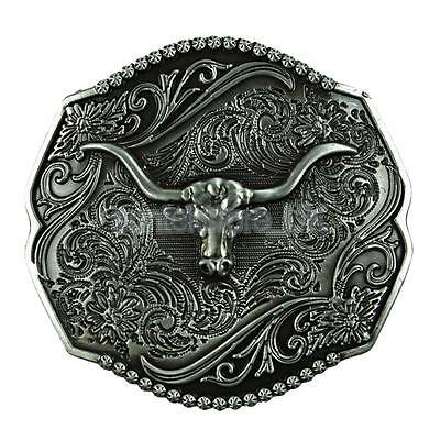 Tang Grass Pattern Western Style Cowboy Eagle Gold/&Bronze Large Belt Buckle