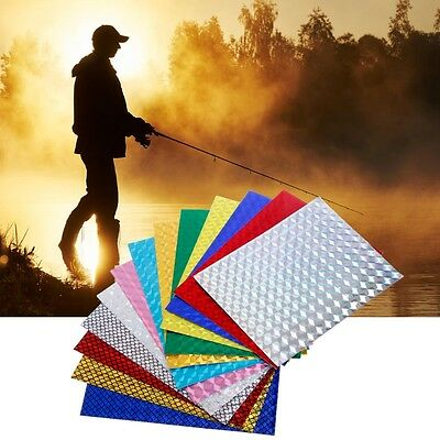 5pcs 7cm x 10cm Holographic Film Adhesive Flash Tape For Lure Making Fly Tying