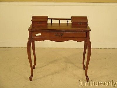 F40759E:  HAMMARY Cherry French Louis XIV Leather Top Writing Desk