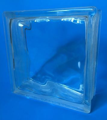 Architectural Clear Glass Block Wavy Square Brick Tile for Window Wall Crafts