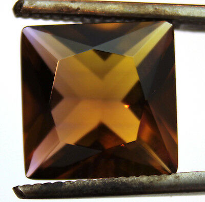 5.145 CTS AMETRINE SQUARE AAA! PURPLE & GOLDEN 12 x 12 mm
