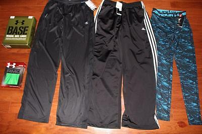 Lot 5 Under Armour Adidas Mens Athletic Pants Ua Base Tactical Boxerjock Med Nwt
