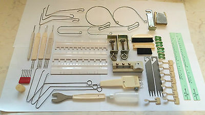 Silver Reed Knitmaster Knitting Machine Parts Accessories Huge Tool Kit + Extras