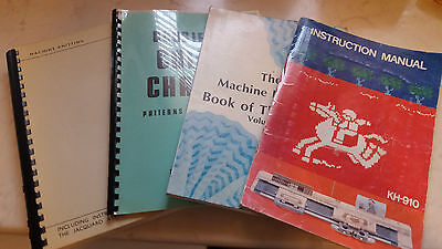 Lot Of 4 Large Knitting Machine Machining Books Manuals Ribber Instructions