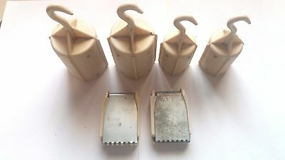 Silver Reed Brother Knitting Machine Tools Parts Set Of 6 X Hanging Hook Weights