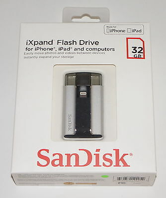 Sandisk Ixpand Flash Drive For Iphone And Ipad 32 Gb Sdix-032G-A57 New!