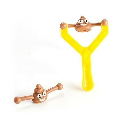 44916 Flying Koolface Poo Face Emoji Slingshot Funny Joke Novelty Crap Sh*t