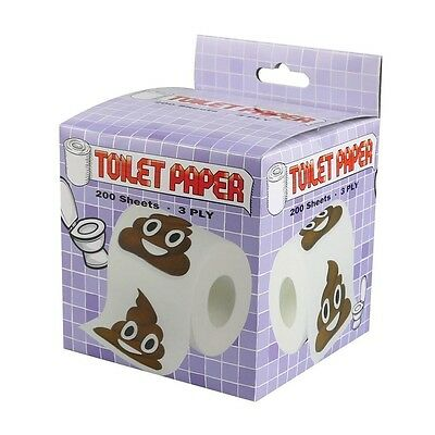 44905 Poo Face Emoji Toilet Paper 200 Sheets 3 Ply Novelty Sh*t Crap