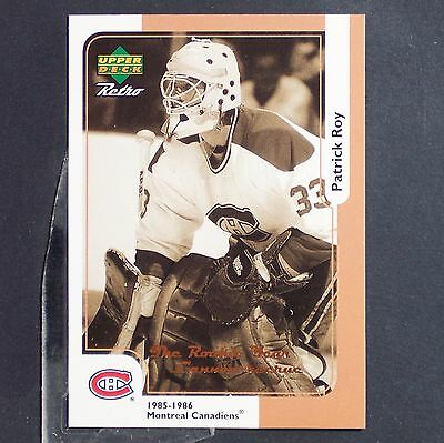 PATRICK ROY  1998-99 McDonald's Upper Deck #15  Montreal Canadiens  Colorado HOF
