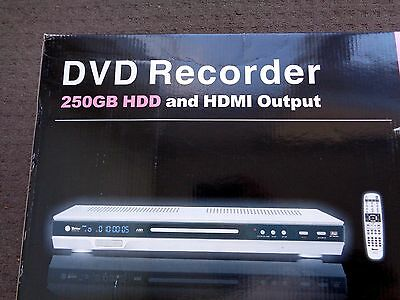 Brand New DVD Recorder 250GB HDD, HDMI output, record HD TV to HDD hard disk