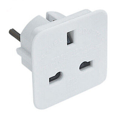 UK British English To EU Euro Europe European Travel Adaptor Plug 2 Pin Adapter