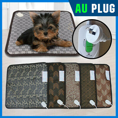 Pet Electric Heat Pad Heater Mat Bed Warmer Blanket for Dog Cat OZ