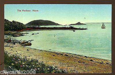CHANNEL ISLANDS HERM  The Harbour   coloured