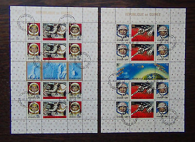 Guinea 1965 American & Russian Achievements in Space Miniature sheets x 2 FU