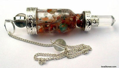 Bottle Vial Chakra Pendulum Crystal Ball Point Metaphysical Dowsing Healing