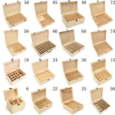 6-74 Slots Oil Aroma Storage Wooden Case Box Essential Organizer Container Bag