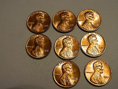 1981 Lincoln Cent ( 1 From This Lot ) ---Lot #2926