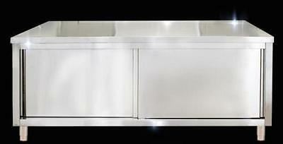 Stainless steel table kitchen cabinet custom work table 100*60*80cm