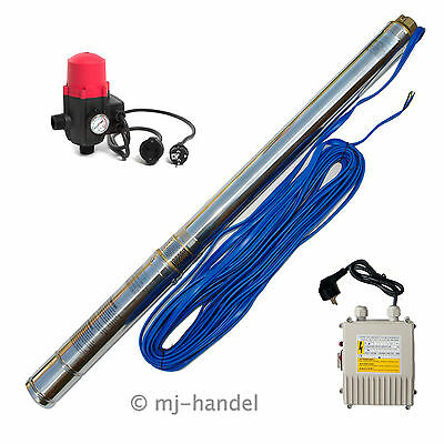 3 Inch Deep-Well Pump Pressure Switch 8BAR Well Pump Submersible Pump 20m Cable