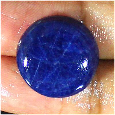 15.10 Ct Natural Superb Blue Sodalite Round Cabochon Loose Gemstone Stone_Artt