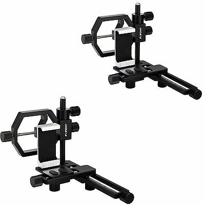 2X Universal Phone Camera Stand Mount Adapter Clip for Telescope Spotting Scope