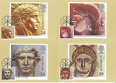 Roman Britain 1993 Great Britain 4 PHQ Cards (Stamps on Front)