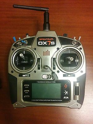 Spektrum DX7s, 7 Channel Radio with Telemetry, DSMX/DSM2, Mode 2 + ar8000 rx