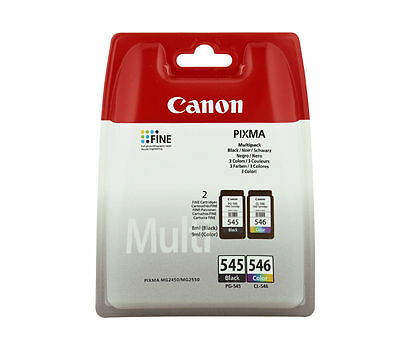 Genuine New Canon PG545 Black CL546 Colour Ink Cartridge -Free Next Day Delivery