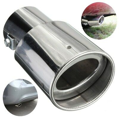 Universal Chrome Stainless Steel Car Rear Round Exhaust Tail Pipe Muffler Tip
