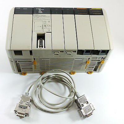 Omron PLC CQM1H-CPU51 + OC222 Relay Output + PA203 PSU + Programming Cable