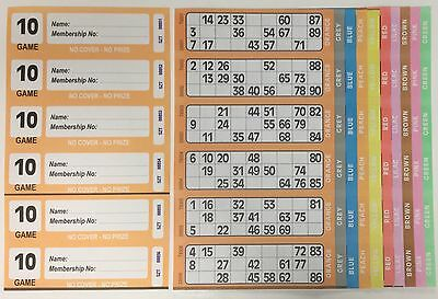 750 10 Page (Games) Books - XL Bingo Tickets Booklets- Similar to Jumbo