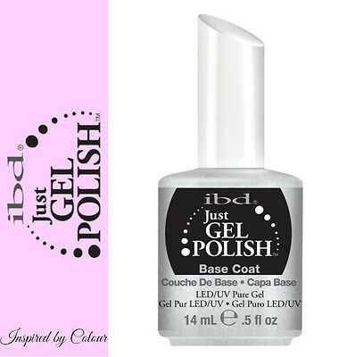 *GENUINE* IBD Just Gel Soak Off UV LED Gel Nail *BASE COAT* 14ml