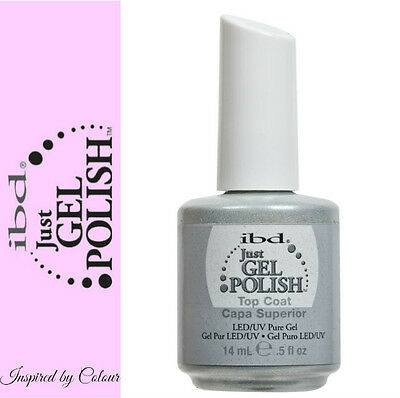 *GENUINE* IBD Just Gel Soak Off UV LED Gel Nail *TOP COAT* 14ml