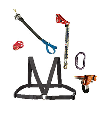 Rope Wrench SRT Climbing Kit includes Chest Box, Carabiners, Hitch Tending Pulle