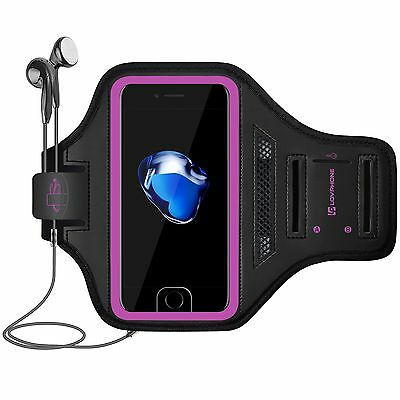NEW iPhone 7 Plus Gym Sports Band Armband Sport Running Workout Reflective Case