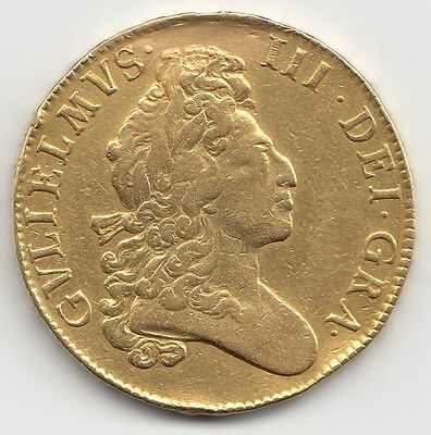1700 William III Gold Five Guinea - Ex Mount