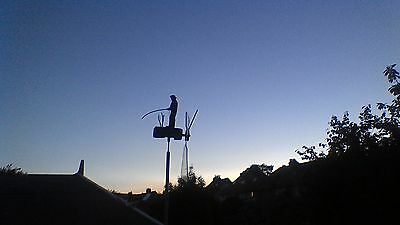 fishing man whirligig, automaton, windvane