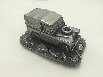 Land Rover Series 2 Pewter Effect 1.43 Scale Model Car Handmade In Sheffield