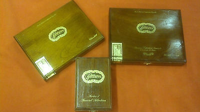 Rare Cigar Boxes- Casa Fuente Wood-Lot of 3 - NICE ! Hard to Find