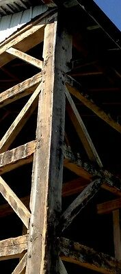 "HAND HEWN 150+ year old SHOULDERED POST Rare Architectural beam 9.5""+10""+13.5 ft"