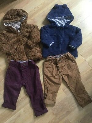Next, M&s Baby Boys Outfits Age 6-9 Months Chinos, Cardigan, Fleece