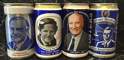 Fosters 375ml.Commemorative Collector Beer Cans. 4 Different.