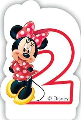 Minnie Mouse Number 2 Shaped Birthday Cake Candle