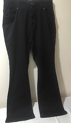 City Chic Tdf 'to Die For' Denim High Rise Black Jeans, Sz 16